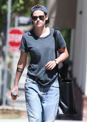 Kristen Stewart in jeans Out and about in Beverly Hills