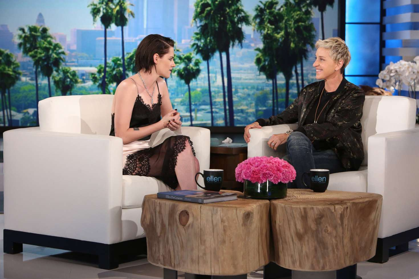 Kristen stewart the ellen degeneres show in burbank - Ellen show videos ...