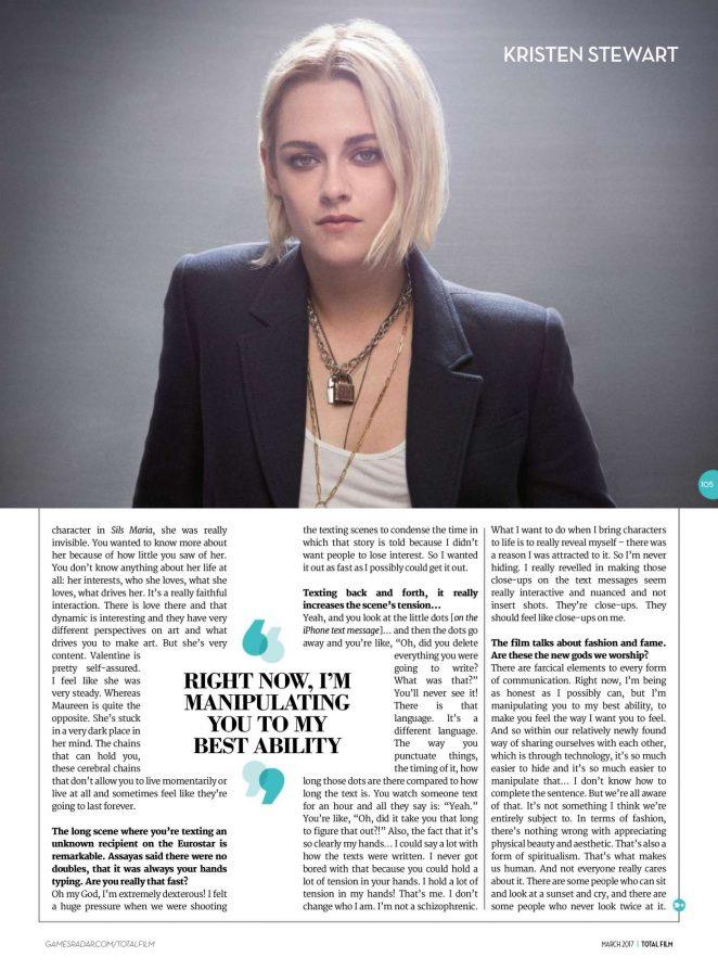 Kristen Stewart: Total Film Magazine 2017 -03