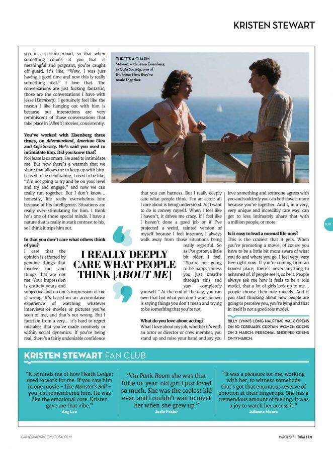 Kristen Stewart: Total Film Magazine 2017 -06