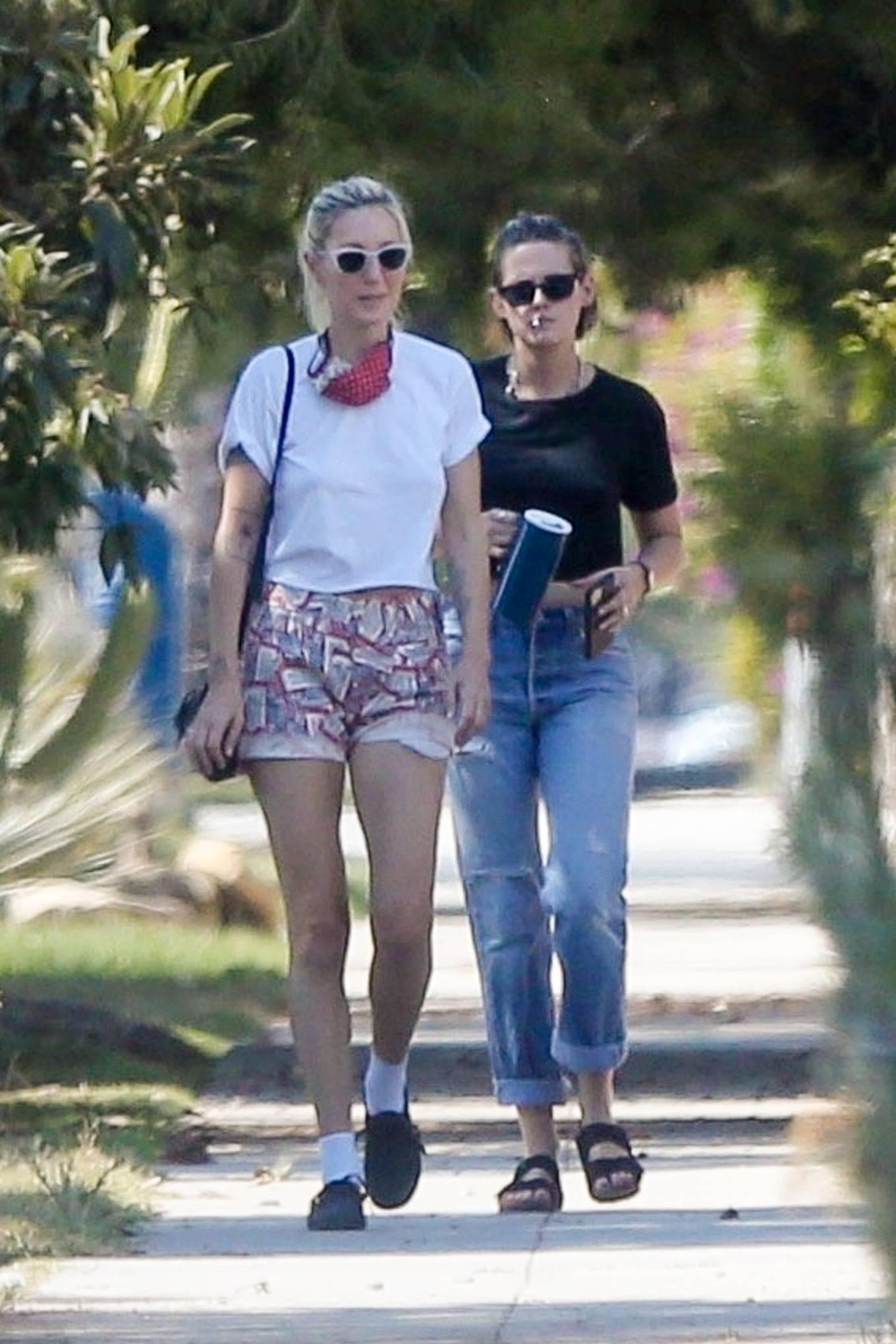 Kristen Stewart with Dylan Meyer in Los Feliz