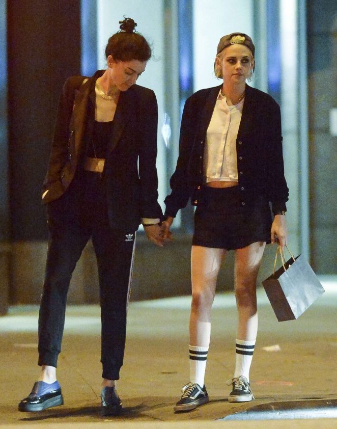 Kristen Stewart with girlfriend out for dinner in Los Angeles