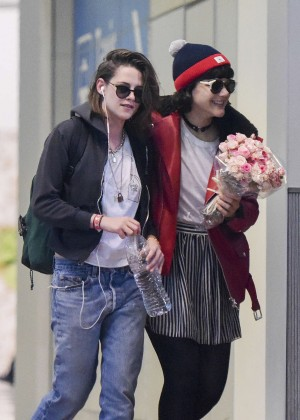Kristen Stewart with girlfriend Soko in Paris