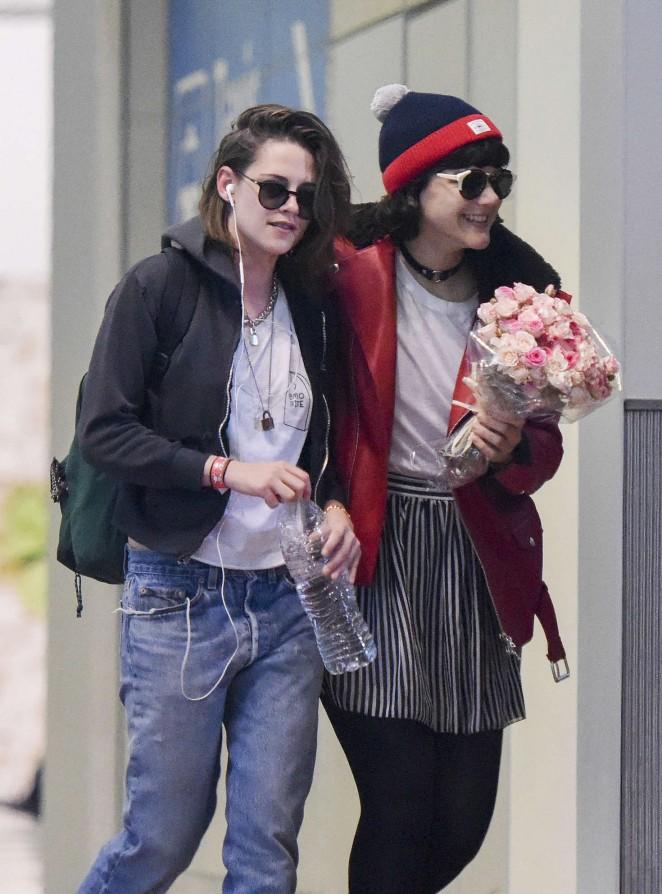 Kristen Stewart with girlfriend Soko in Paris