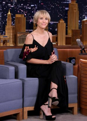 Kristen Wiig on 'The Tonight Show Starring Jimmy Fallon' in NY