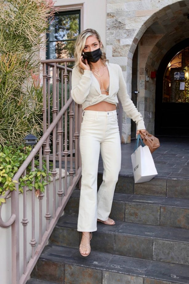 Kristin Cavallari - In a Jacquemus top and Bottega Veneta sandals out in West Hollywood