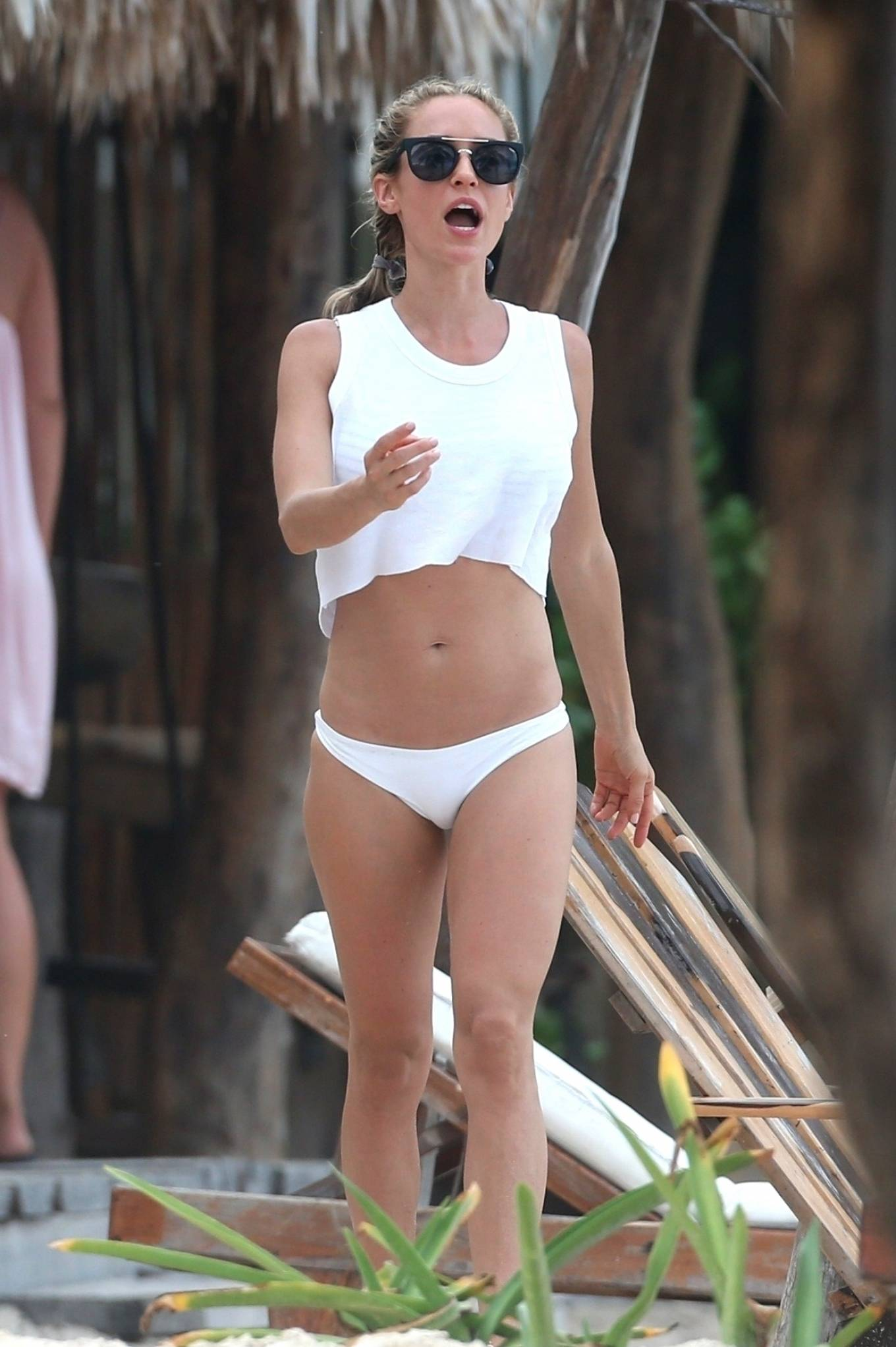 Kristin Cavallari 2020 : Kristin Cavallari – In a white bikini on the beach in Tulum -19