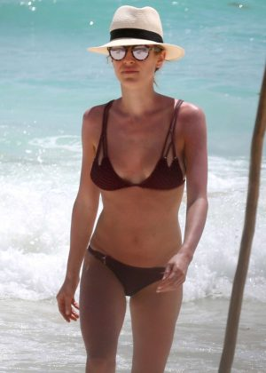 Kristin Cavallari in Bikini at the beach in Tulum