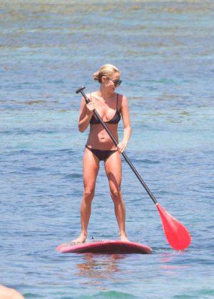 Kristin Cavallari in Bikini Paddleboarding in Bali