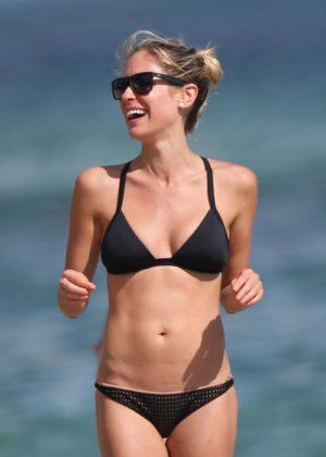 Kristin Cavallari in Black Bikini at the beach in Miami