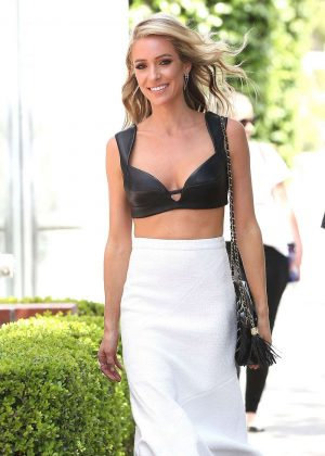 Kristin Cavallari in Black Top Out in Los Angles