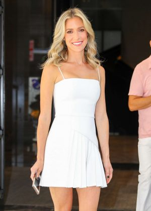 Kristin Cavallari in White Mini Dress - Out in New York City