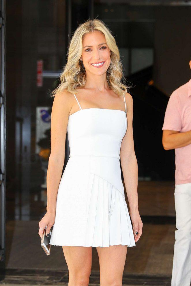 Kristin Cavallari in White Mini Dress - Out in New York City