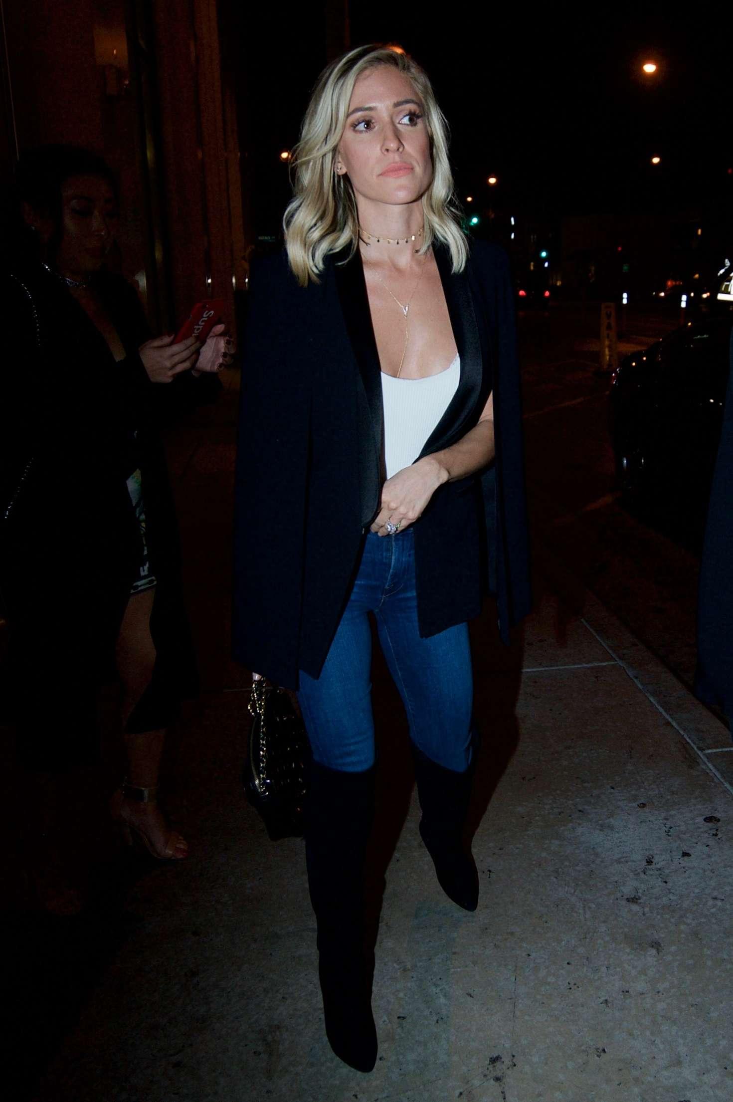 Kristin Cavallari - Leaving Catch restaurant in Los Angeles