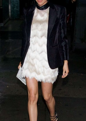 Kristin Cavallari in Mini Dress Out in New York City