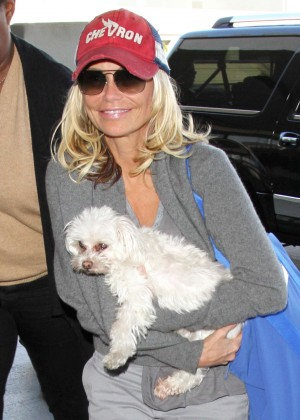 Kristin Chenoweth Arrives at LAX Airport in Los Angeles