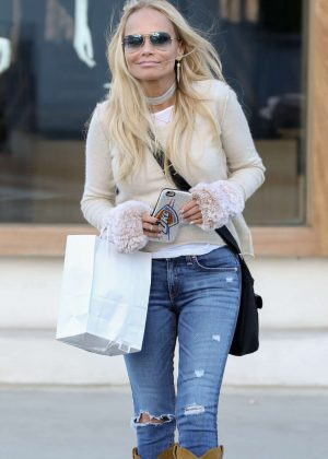 Kristin Chenoweth in Jeans Shopping in Beverly Hills