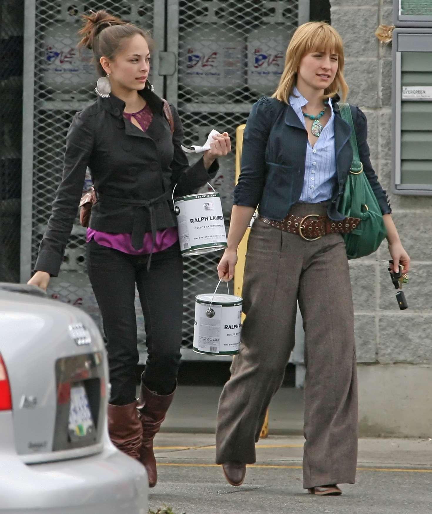 Kristin Kreuk and Allison Mack - Shopping in Vancouver