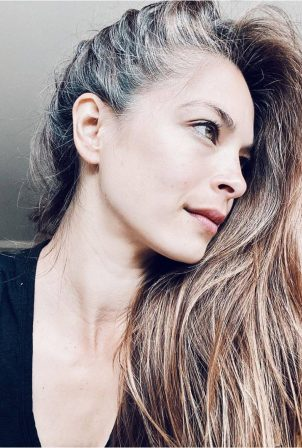 Kristin Kreuk gray hair in self-portrait