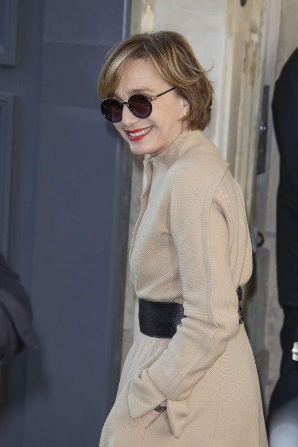 Kristin Scott Thomas - Attends the Dior Haute Couture SS 2020 Show in Paris