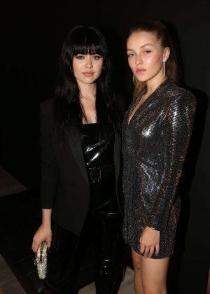 Kristina Bazan and Regina at Yves Saint Laurent night in Paris