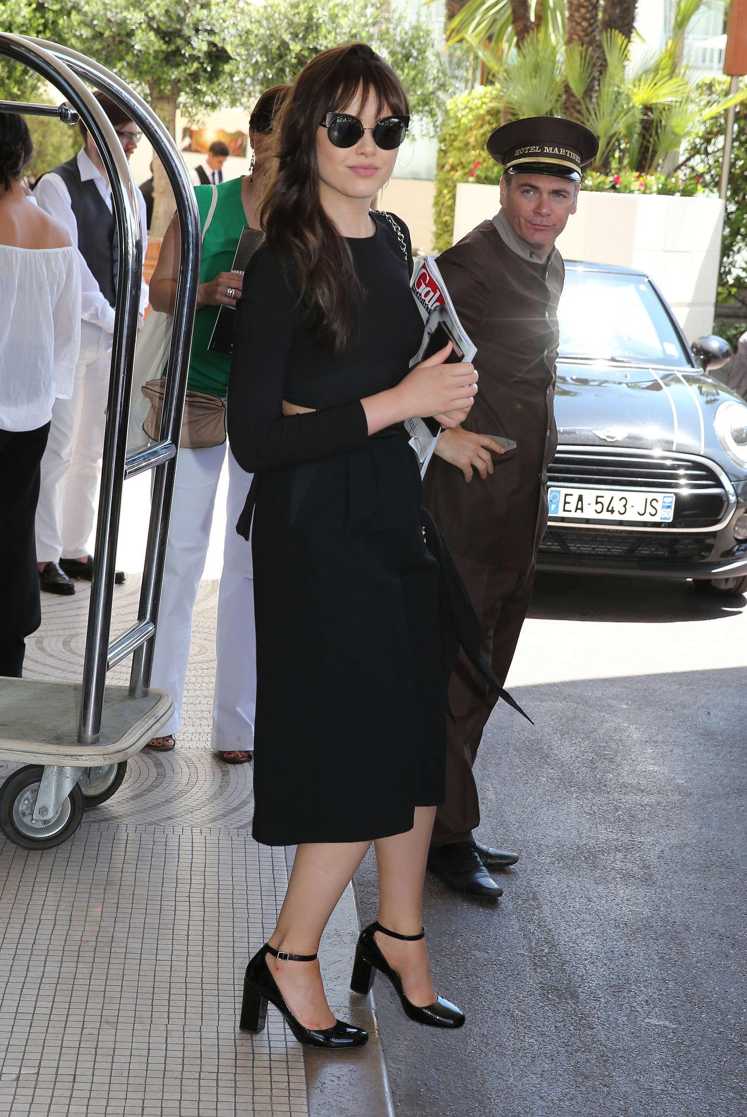 Kristina Bazan - Leaves Grand Hyatt Martinez Hotel in Cannes