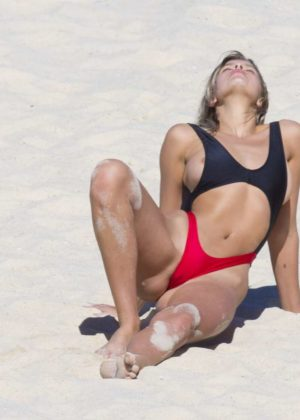 Kristina Mendonca – Bikini photoshoot on Bondi Beach – GotCeleb
