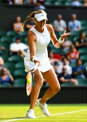 Kristina Mladenovic - 2018 Wimbledon Tennis Championships in London Day 3