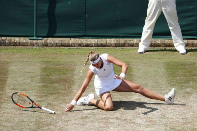 Kristina Mladenovic  at Wimbledon Championships 2017 in London