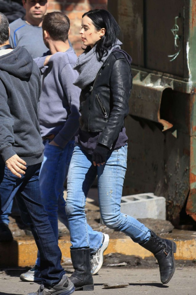 "Krysten Ritter - ""A.K.A. Jessica Jones"" Set in New York"