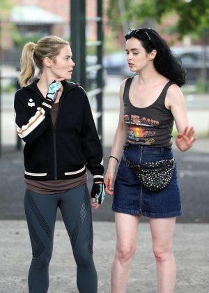 Krysten Ritter and Rachael Taylor - Filming 'Jessica Jones' Season 3 in Queens