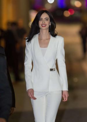 Krysten Ritter - Arrives at 'Jimmy Kimmel Live' in Hollywood