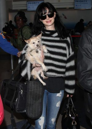 Krysten Ritter at LAX Airport in Los Angeles