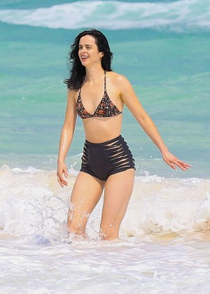 Krysten Ritter in Bikini at a beach in Cancun