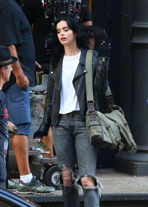Krysten Ritter - Filming 'Jessica Jones' in Tribeca