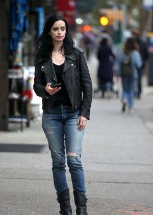 Krysten Ritter - Filming 'Jessica Jones'; Season 3 in NY