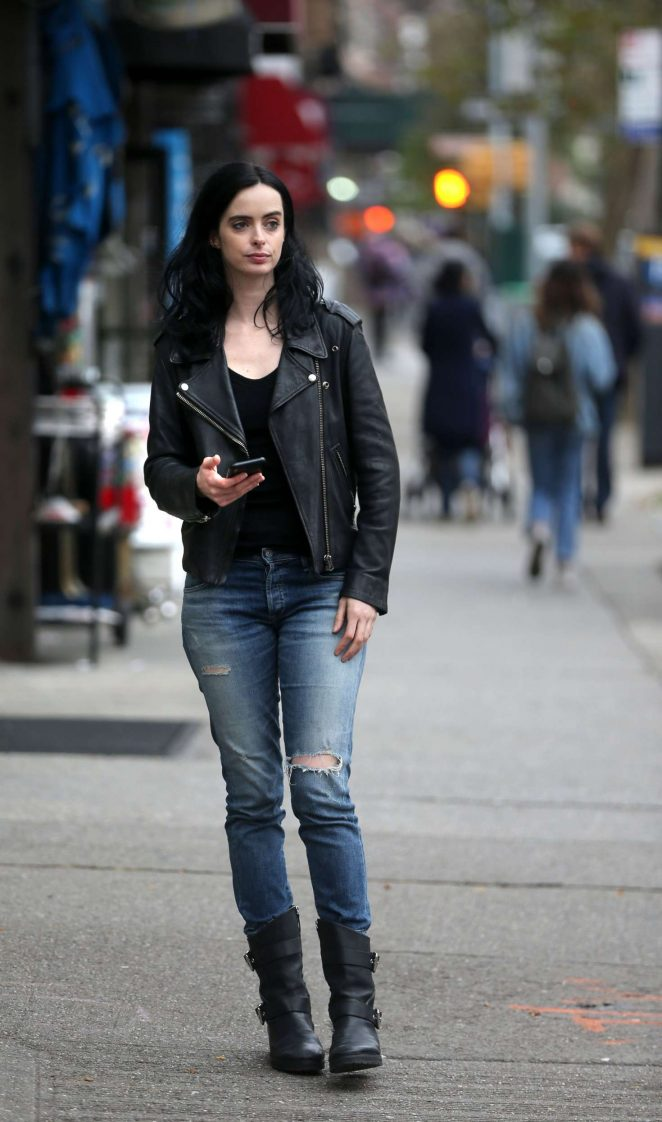 Krysten Ritter – Filming 'Jessica Jones'; Season 3 in NY