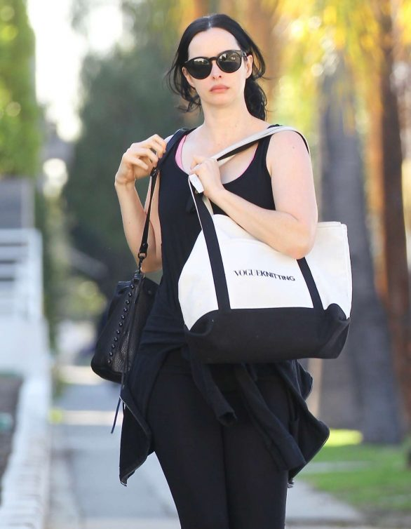 Krysten Ritter - Heads to All Time cafe in Los Feliz