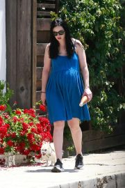 Krysten Ritter in Blue Dress - Out in Los Angeles