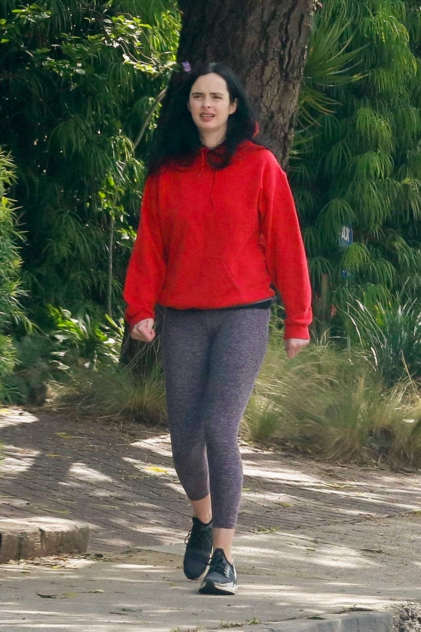Krysten Ritter in Tights - Out in Los Angeles