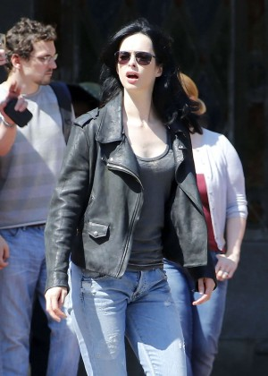 Krysten Ritter - On the set of 'Jessica Jones' in NYC