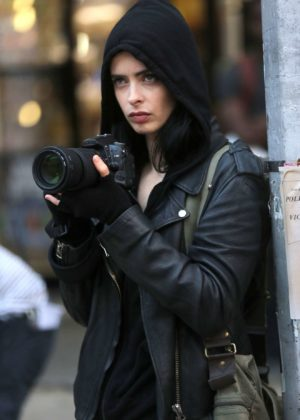 Krysten Ritter - on the set of Jessica Jones in NYC