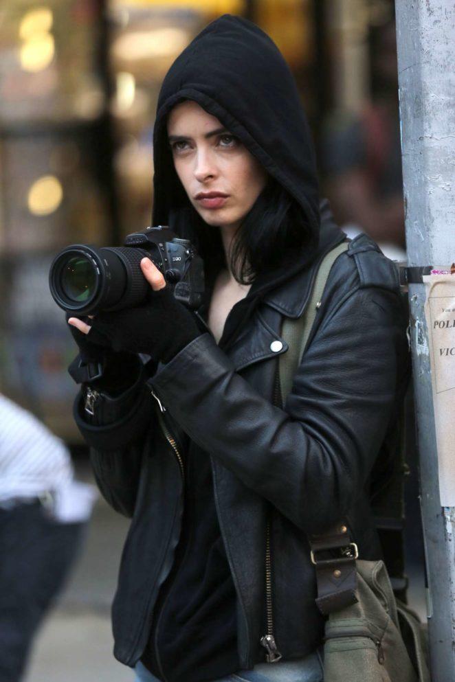 Krysten Ritter - on the set of Jessica Jones in NYC