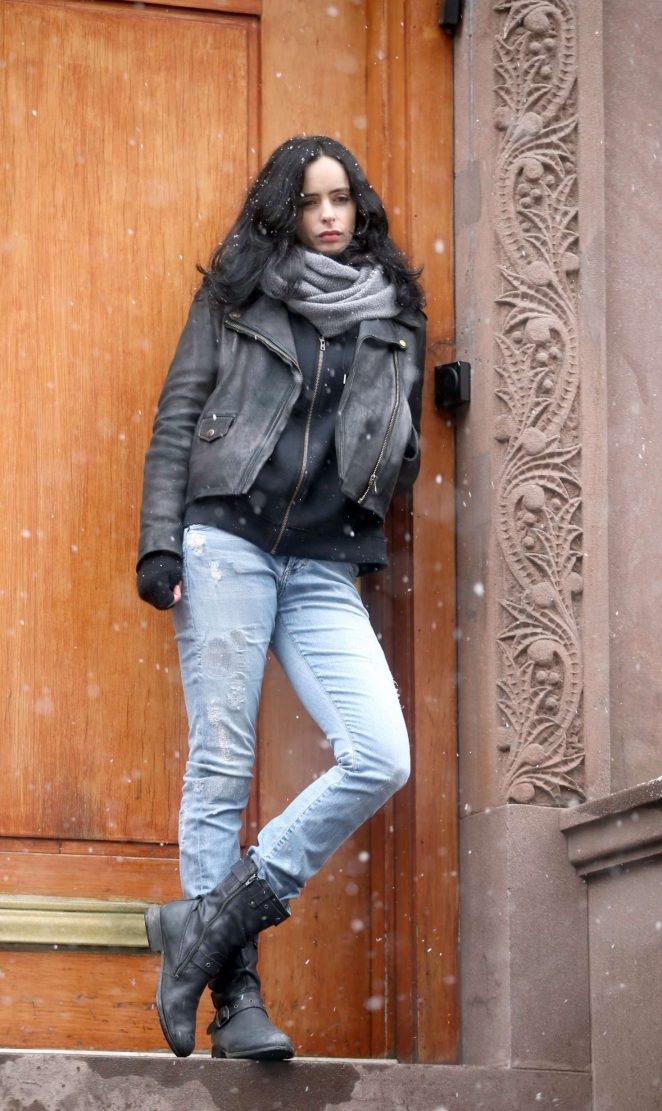 Krysten Ritter - On the set of 'The Defenders' in New York