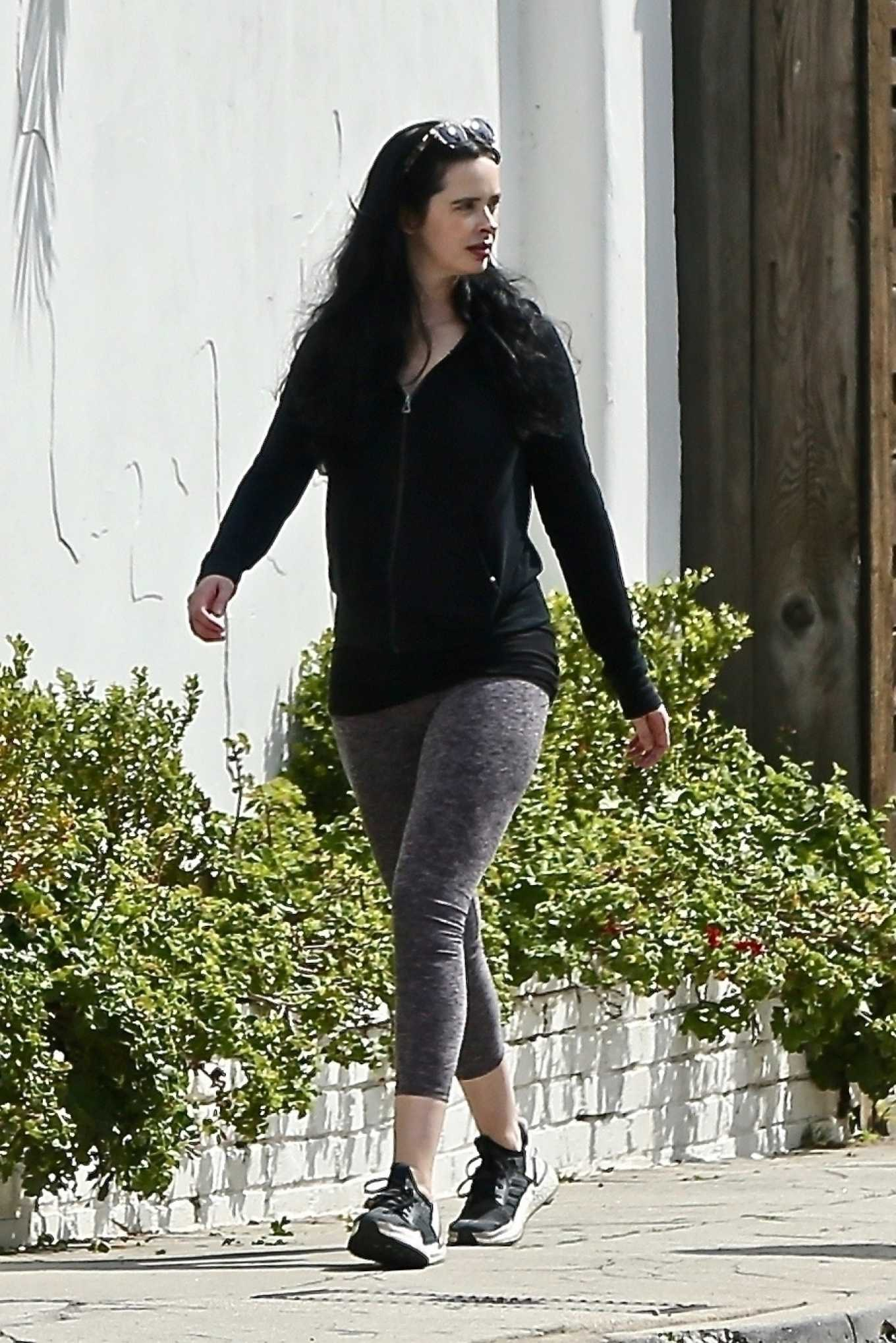Krysten Ritter - Out for a walk in Los Angeles