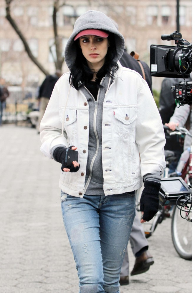 Krysten Ritter - Set of 'Aka Jessica Jones' in NYC