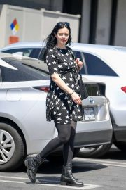 Krysten Ritter - Wearing a star printed mini dress in West Hollywood