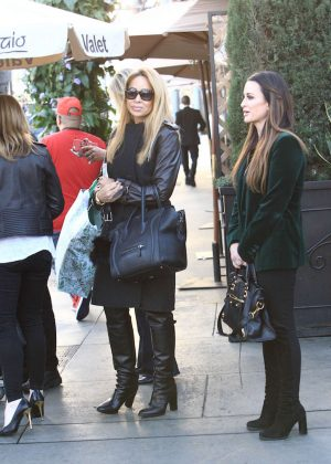 Kyle Richards and Faye Resnick at Il Pastaio in Beverly Hills