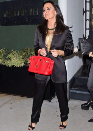 Kyle Richards - Arrives at 'Balmain' Private Event in Los Angeles