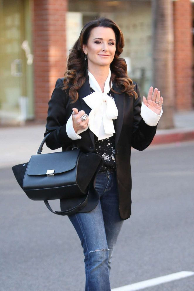 Kyle Richards at Kyle by Alene Too store in Beverly Hills